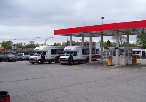 Our Midway shuttle vans are available on-demand. This means that when you're ready, so are we. Drive-in, find a parking spot and our shuttles will meet you at your car to bring to the airport.